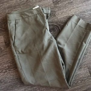 Olive green work pants.